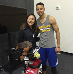 Swinging Skirts Champ Lydia Ko with Stephen Curry